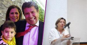 Ricardo Monreal con su esposa e hijos y Lídice Rincón Gallardo Pavón