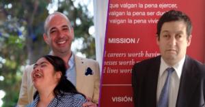 Pedro Salazar con su hija Elena, y Ricardo Perdomo de IMER