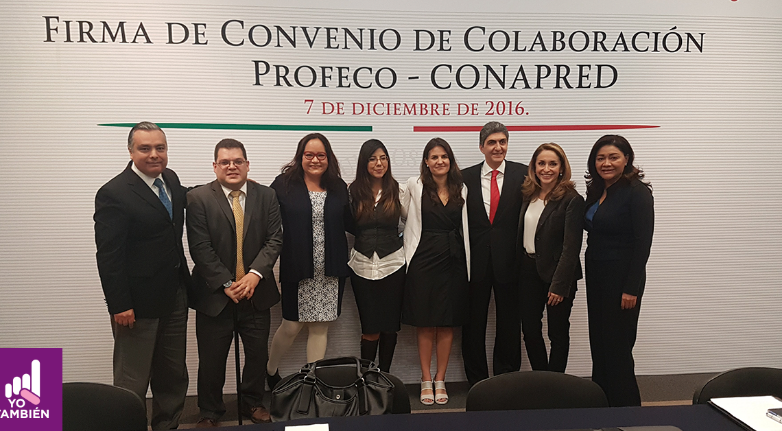 Foto grupal de integrantes de Yo También con las personas del convenio.