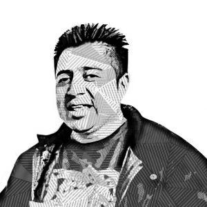 Dibujo de la cara de Juventino.
