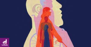 Ilustración de Dadu Shin donde podemos ver dibujos de distintas personas con discapacidad