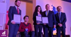 Luisa María Alcalde tras firmar con la Alianza Éntrale