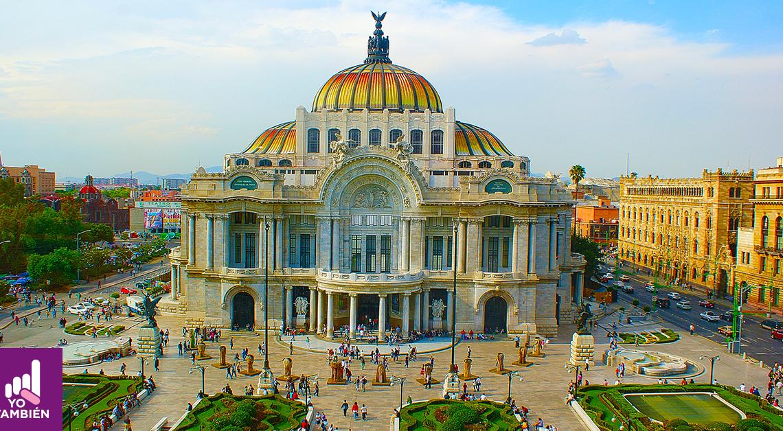Fotografía del palacio de Bellas Artes