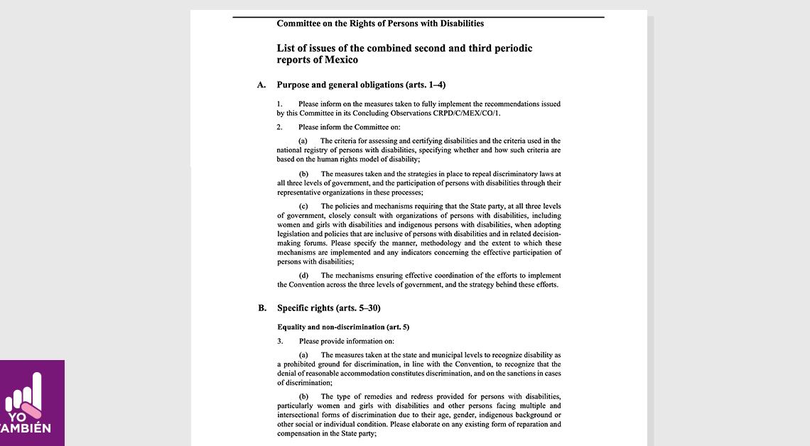 fotografía de la pagina principal del documento en ingles