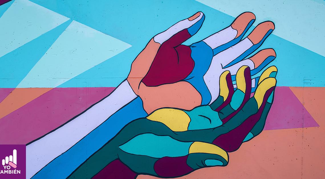 Ilustración de la palma de dos manos haciendo una forma de cuna