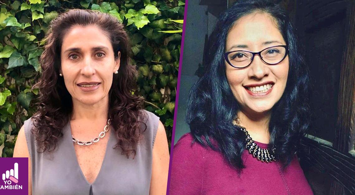 Fotografías separadas de Alejandra Agraz y Gabriela Martínez viendo a la Cámara, ambas están sonriendo. La primera tiene de fondo una pared de plantas mientras la segunda está dentro de un cuarto y podemos notar parte de la pared detrás de ella