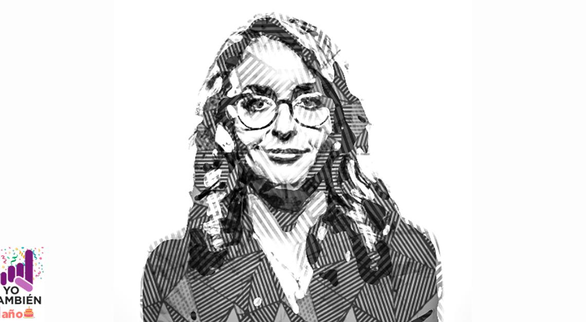 dibujo de Barbara Anderson sonriendo