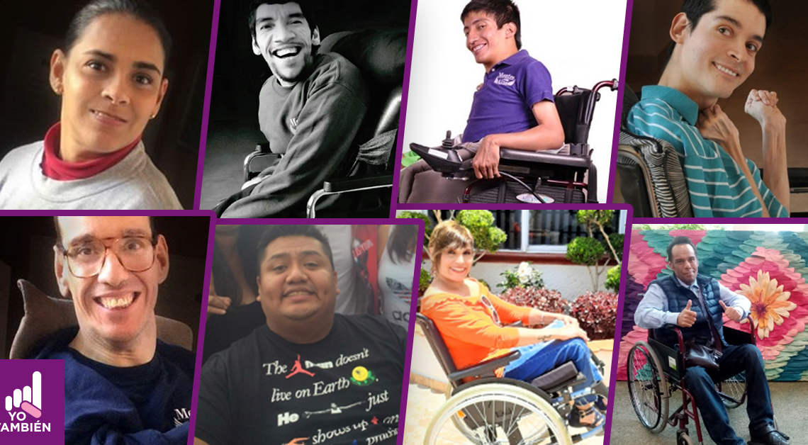 colash de 8 personas con discapacidad que nos contaron sus historias en la nota de la epidemia y yo