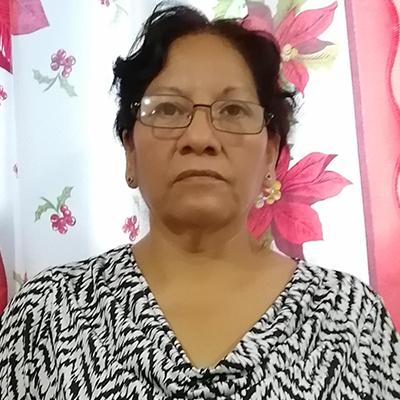 Fotografía del rostro de Esperanza Espinoza