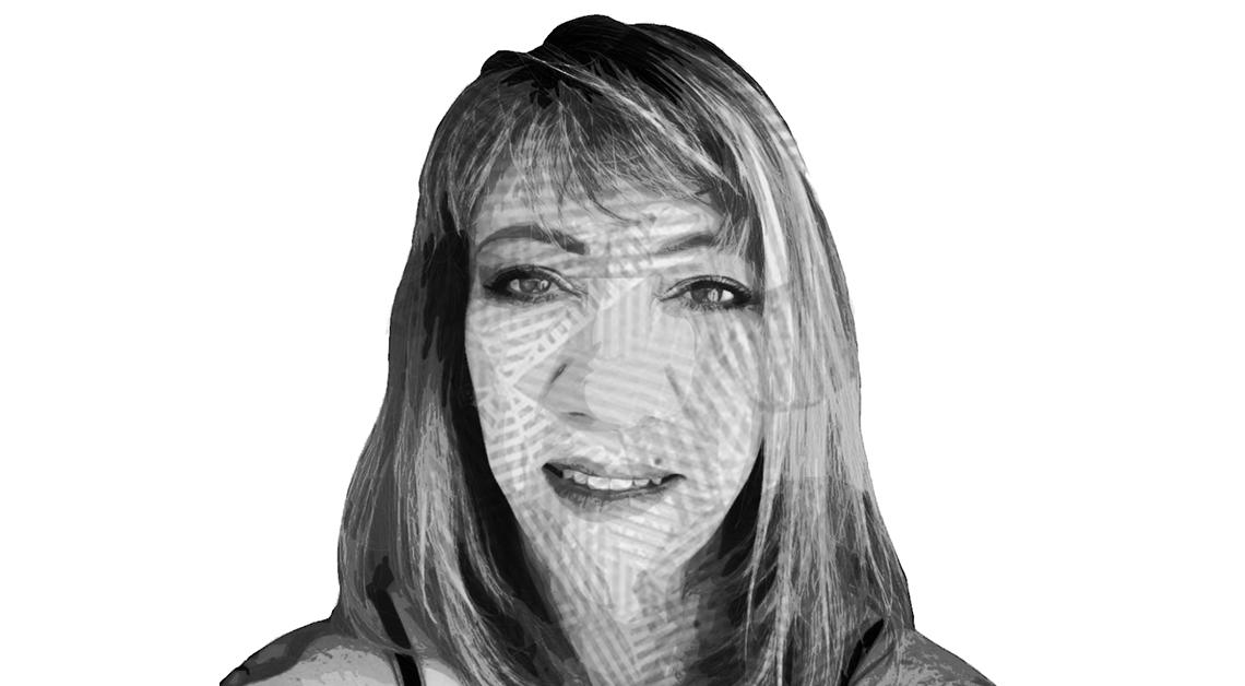Ilustración del rostro de Lídice Rincón sonriendo.