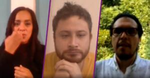 Imagen ilustrativa de los rostros de las tres personas entrevistadas.