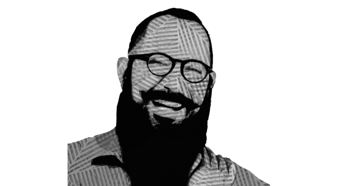 Ilustración del rostro de Álvaro Cueva sonriendo.