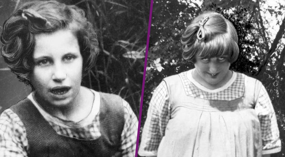 Fotografías en blanco y negro de Katherine y Nerissa Bowes-Lyon, ambas viendo a la cámara.