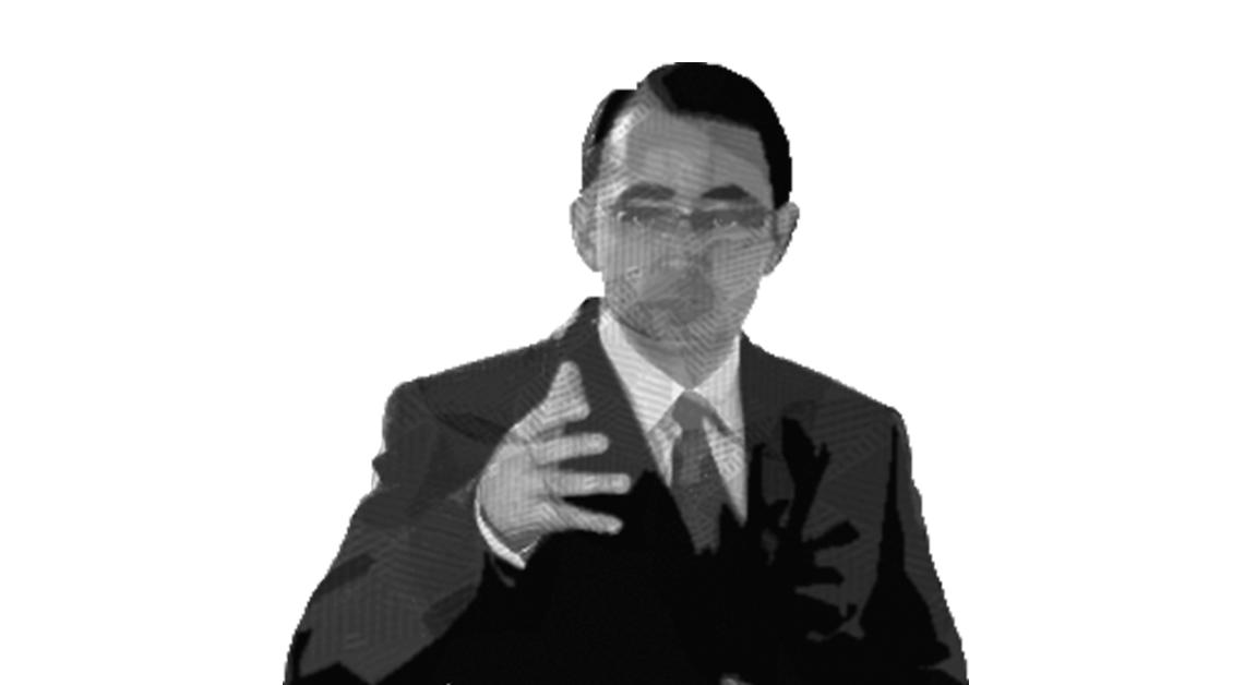 Fotografía a medio cuerpo del doctor Barragán con la mano al frente de su pecho.