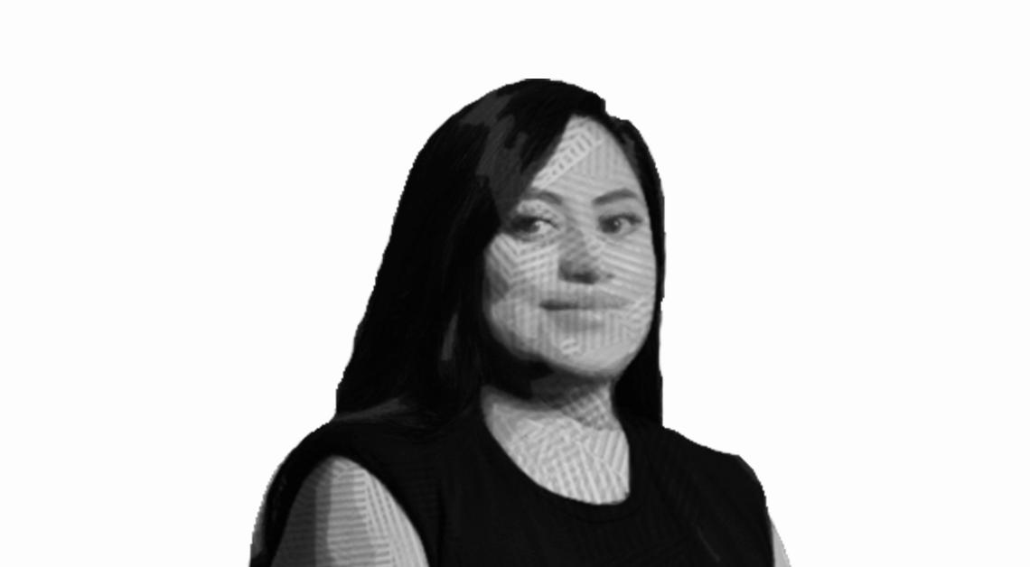 Ilustración del rostro de Amined sonriendo