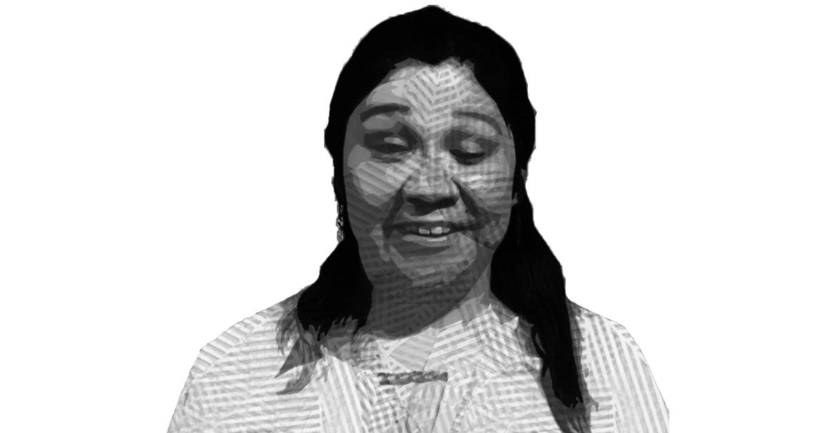 Fotografía con efecto crom sobre el rostro de Hilda Laura