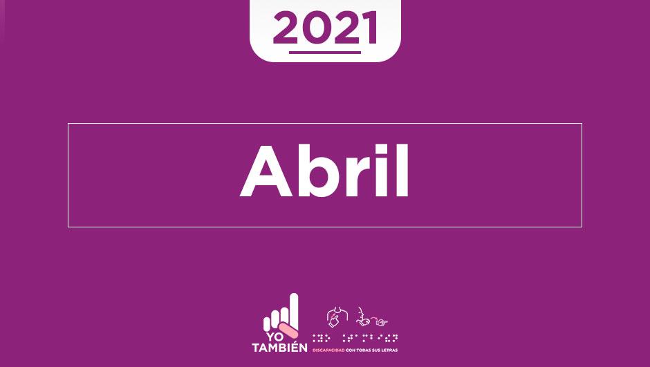 Texto de la imagen: Abril.