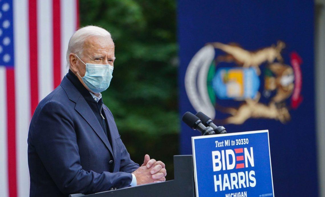 El Presidente de Estados Unidos de América, Joe Biden, en el podium de una conferencia. Fotografía recuperada del Facebook Oficial de Joe Biden.