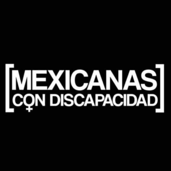 Texto sobre la imagen con fondo negro: Mexicanas con discapacidad.
