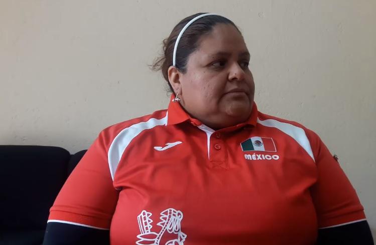 La atleta paralímpica de alto rendimiento Socorro Lira. Crédito: Instituto Potosino de Cultura Física y Deporte).