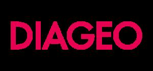 Texto en rojo con letras Diageo
