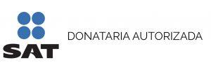 Logo de SAT con texto a la derecha Donataria Autorizada