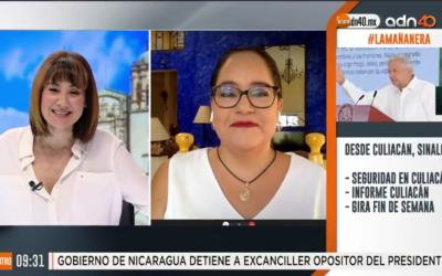 Katia D'Artigues con Mónica Garza en ADN 40