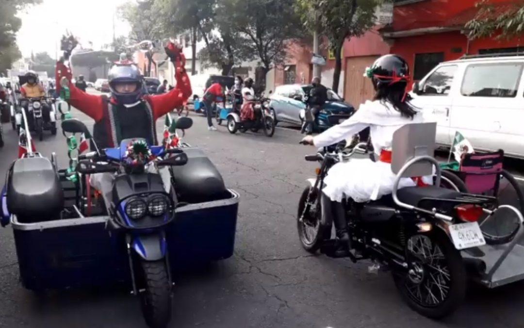 Fiestas patrias: Bikers con discapacidad viven rodada sin límite